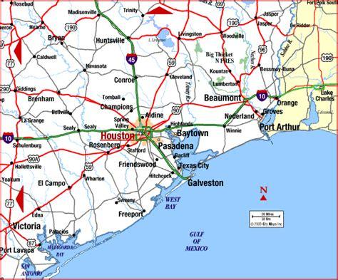 map  houston beaumont  houston texas map
