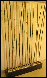 Bamboo brigade room divider wall decoration indian for Bamboo wall art