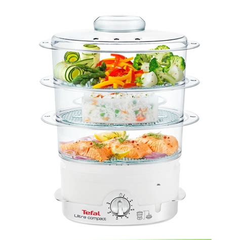 steamer cuisine tefal ultra compact steam cuisine vc1006 food steamer 900w
