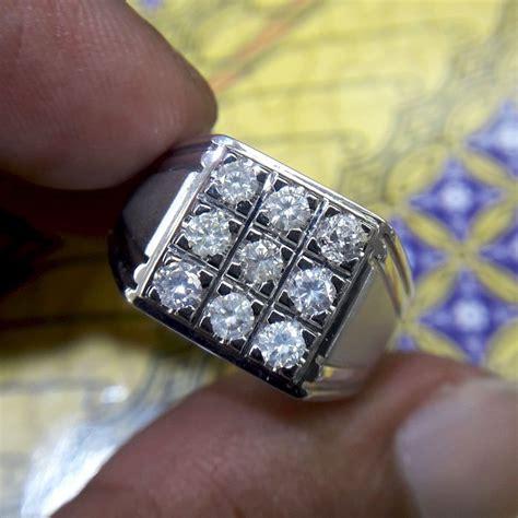 jual beli cincin pria berlian eropa 0347 ring palladium