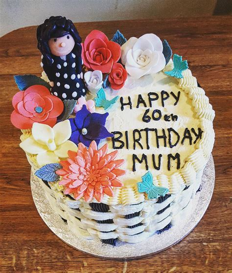 """Best 25 60th birthday cakes ideas on pinterest. CakeMyDayIE on Twitter: """"""""Say it with flowers. A 60th birthday cake for a much loved mom. With ..."""