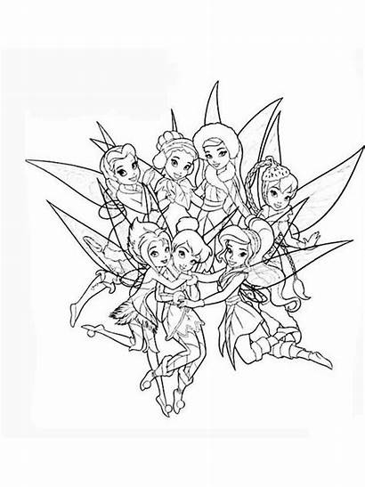 Tinkerbell Coloring Pages Printable Mycoloring