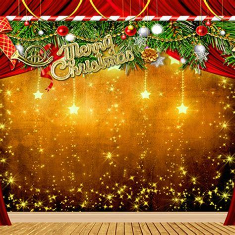 merry christmas photo backdrop merry christmas backdrops gold stars wooden floor green pine branch fotografie