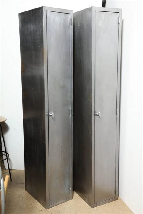 kitchen cabinets distressed two and narrow 1950s industrial brushed steel 2973