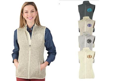 womans sweater vest monogrammed  colors  ch