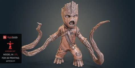 Guardians Of The Galaxy Wallpaper Guardians Of The Galaxy Ravager Groot 3d Model Gambody 3d Printer Files