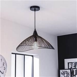 luminaire interieur design leroy merlin With carrelage adhesif salle de bain avec suspension led noir