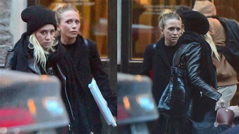Mary-kate & Ashley Olsen Seen Leaving Their Nyc Offices Dressed For The Cold