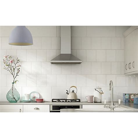 kitchen tiles wickes wickes white ceramic wall tile 200 x 250 mm wickes co uk 3364