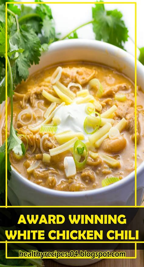 The instructions were a little off. BEST RECIPES-AWARD WINNING WHITE CHICKEN CHILI ...