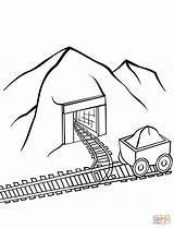 Coloring Coal Mine Pages Printable Drawing Dot Transport Games Categories sketch template