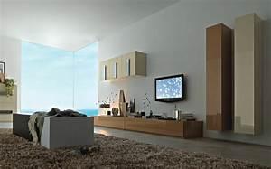 Fernseher An Der Wand : 75 super modelle von wandschrank f r wohnzimmer ~ Frokenaadalensverden.com Haus und Dekorationen