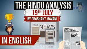 19th July 2018-The Hindu Editorial News Paper Analysis ...