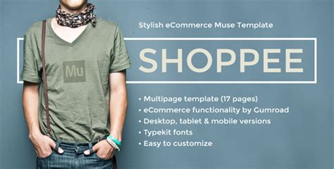 computer store muse template shoppee stylish ecommerce muse template themekeeper