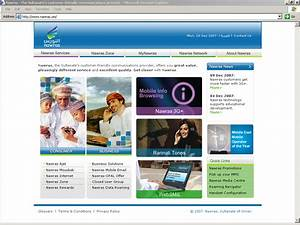 Nawras website home page