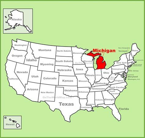 map  michigan state map  usa