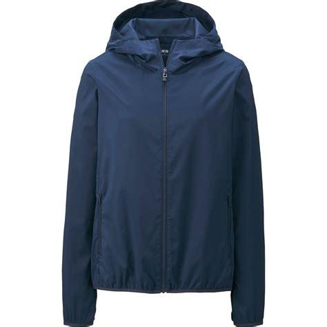 uniqlo jacket uniqlo pocketable hooded jacket in blue navy lyst