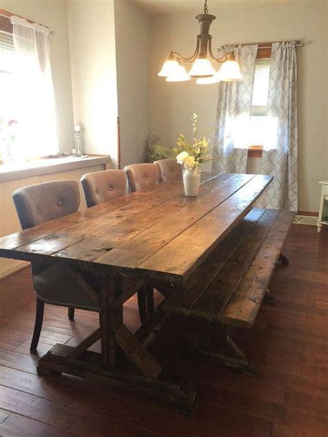 best 25 rustic farmhouse table ideas on pinterest farm