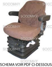 siege pneumatique grammer siège grammer maximo basic pour tracteur avec tissu