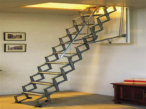 fold up staircase folding attic stairs home interior design