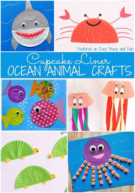 animal cupcake liner crafts activities for 765 | 758e6862605ddb7787418845972facbf
