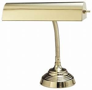 traditional gooseneck polished brass piano desk lamp With traditional gooseneck floor lamp