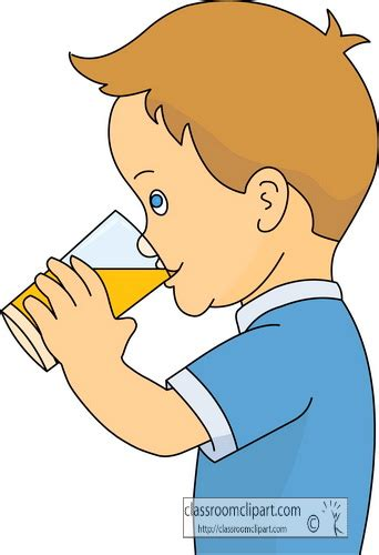 Drinks Clipart Boy Clipart