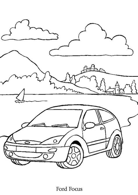Kleurplaat Simpele Auto by Coloriage Voiture Ford Focus