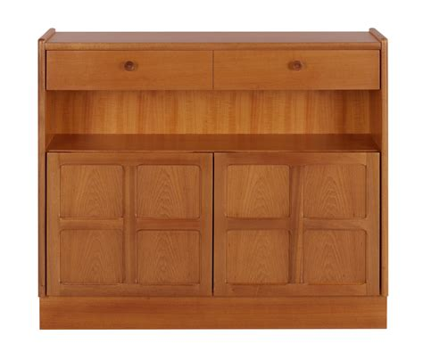 Low Bookcase With Doors by Nathan Classic Teak 6444 Low Bookcase With Doors