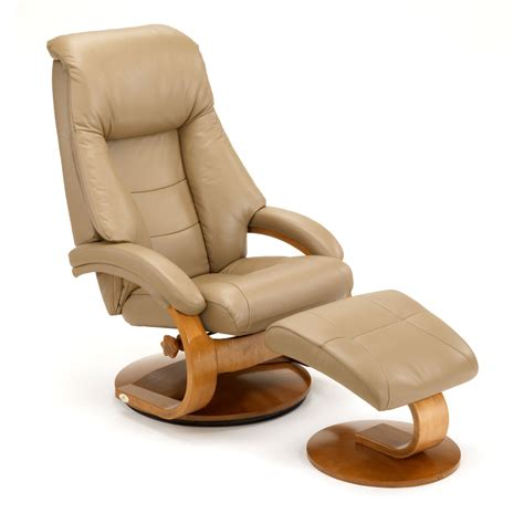 leather swivel recliner with ottoman mac motion oslo 58 series leather swivel recliner and