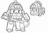 Poli Robocar Pages Coloring Colouring Getcoloringpages Getdrawings sketch template