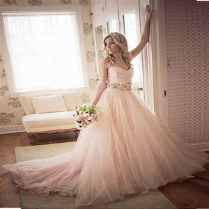ball gown wedding dresses 2017 floor length sweetheart With simple blush wedding dress