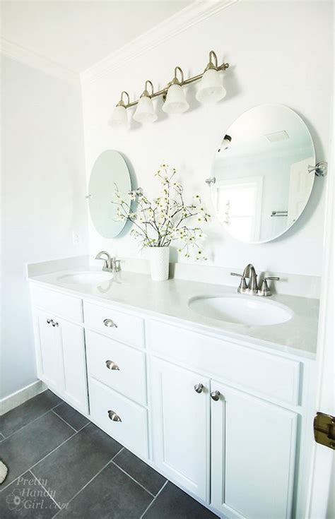 Hang Bathroom Mirror by How To Hang A Frameless Oval Mirror Pretty Handy