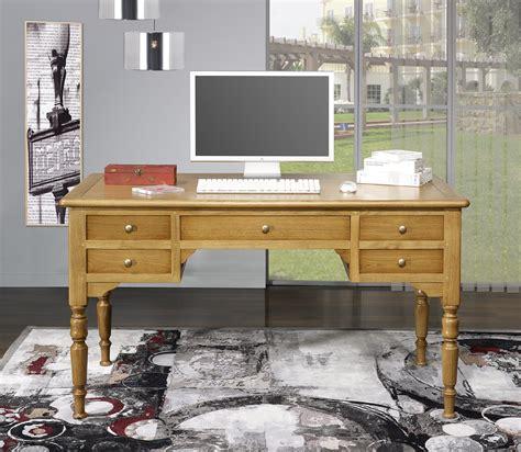 bureau antiquaire bureau ministre léo en chêne massif de style louis