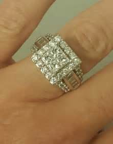 halo engagement rings zales 3 ct t w princess cut engagement ring in 14k white gold zales what 39 s it worth