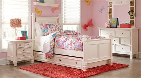 Belmar White 5 Pc Full Poster Bedroom  Teen Bedroom Sets