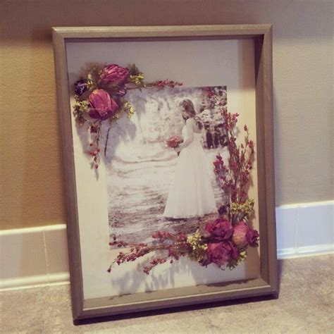 shadow box  dried wedding bouquet craft ideasart
