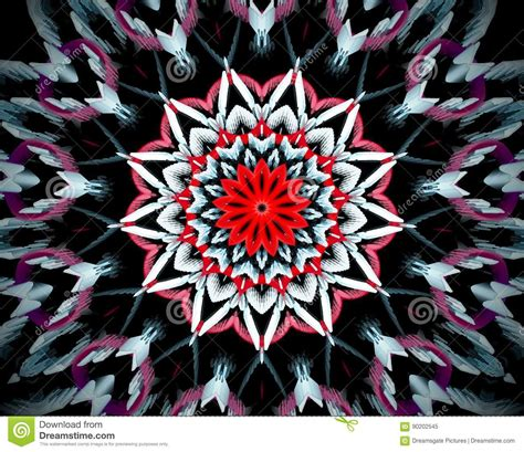Abstract Flower Shapes by Abstract Extruded Mandala 3d Illustration Stock