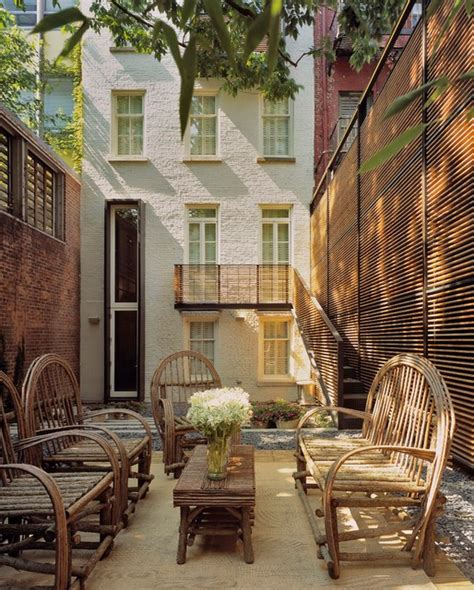 greenwich village townhouse modern patio  york