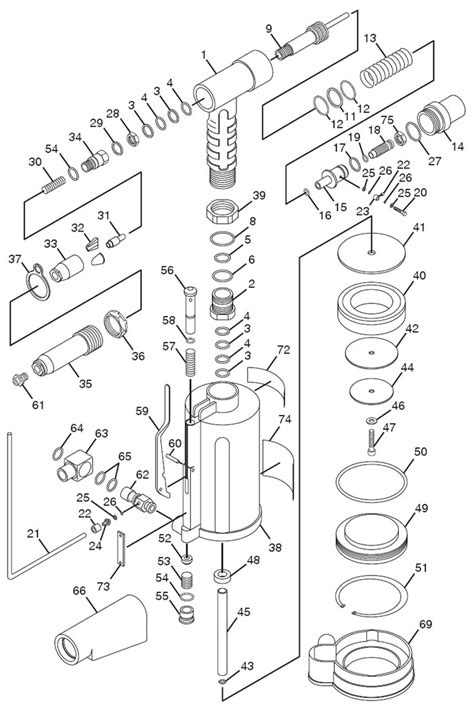 Chicago Pneumatic CP884 Air Riveter Repair Parts