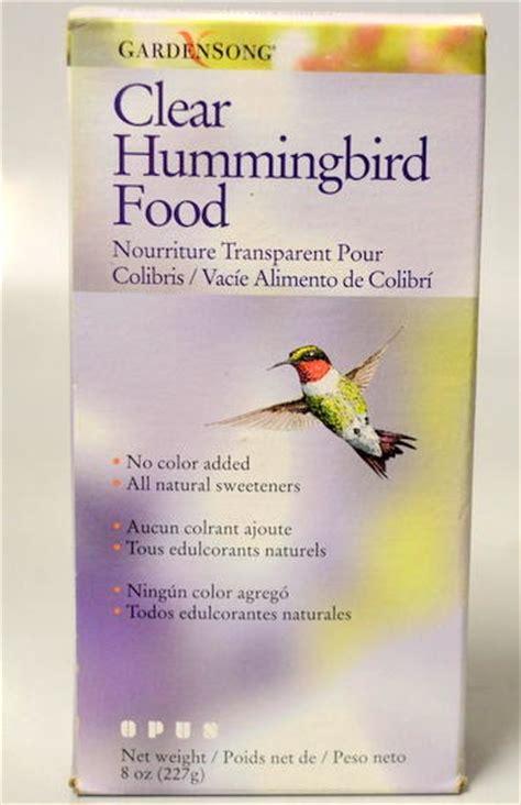 gardensong clear hummingbird food 8 oz box no color