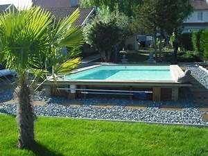 Piscine Hors Sol Bois Rectangulaire : piscine en bois hors sol rectangulaire oc anide ~ Dailycaller-alerts.com Idées de Décoration