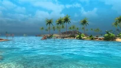 Desktop Beach Animated Moving Tropical Sunny Skyrim