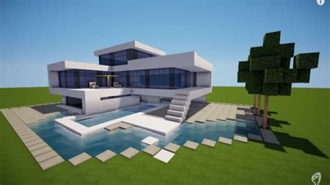 small modern house minecraft modern house build  modern