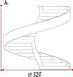 ringhiera prefabbricata preventivo scala elicoidale in cemento armato