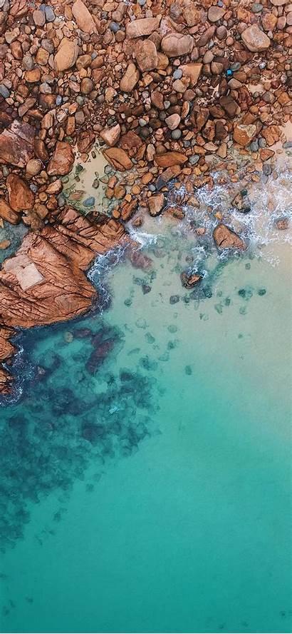 Iphone Sea Clear Wallpapers Rocks Nature Ilikewallpaper