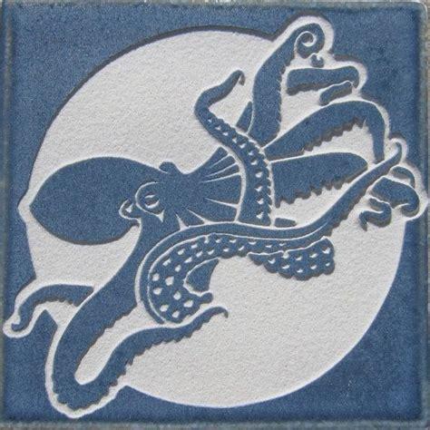 4x4 porcelain tile octopus 4x4 etched porcelain tile sra etsy tile and porcelain tiles