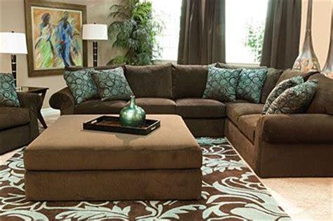 mor furniture wonka chocolate sectional living room for
