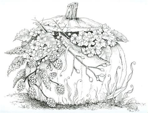 printable autumn coloring pages  adults gtc