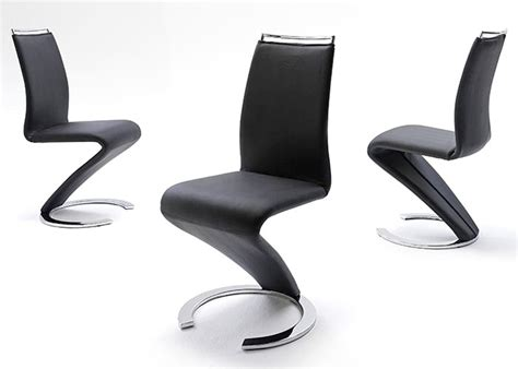chaises simili cuir noir dijon design